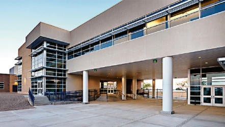 This photo shows Los Lunas High School replacement designed by Greer Stafford Architecture.