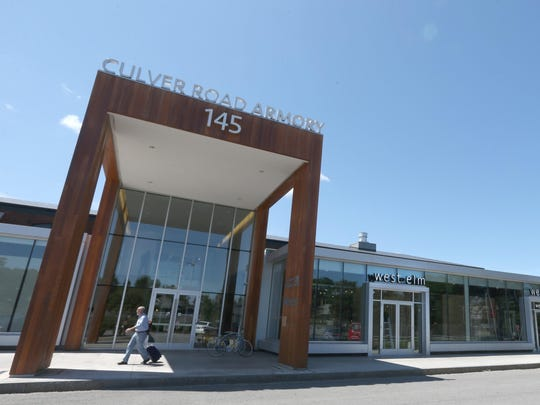 The new West Elm store is located at the Culver Road Armory in Rochester.