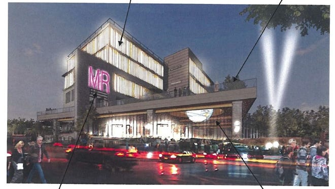 A rendering of DHD Ventures' proposal for a building at the Midtown site.