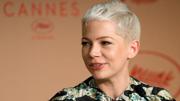 Michelle Williams at a press conference for 'Wonderstruck'