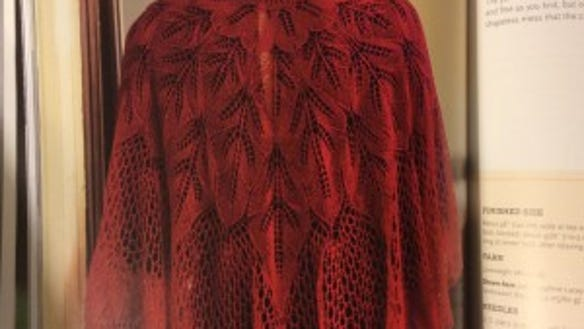 The Coeur D'Amour shawl is my favorite in the book. As a lover of knitted leaves, the mathematical logic of this lace appeals to me.