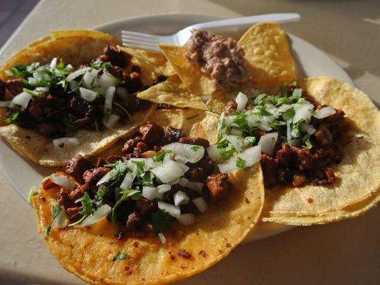 Tacos at Taco Rock.