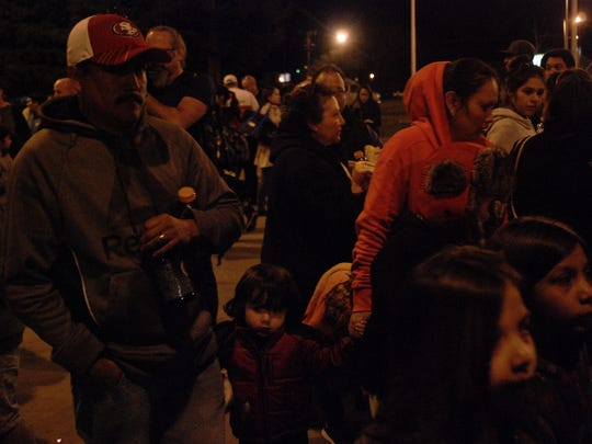Families arrived at the Silver Dollar Fairgrounds in Chico after receiving an evacuation order for Oroville and the surrounding areas.