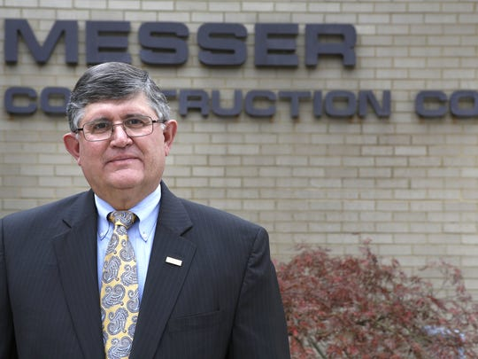 Pete Strange, former Messer Construction CEO, poses