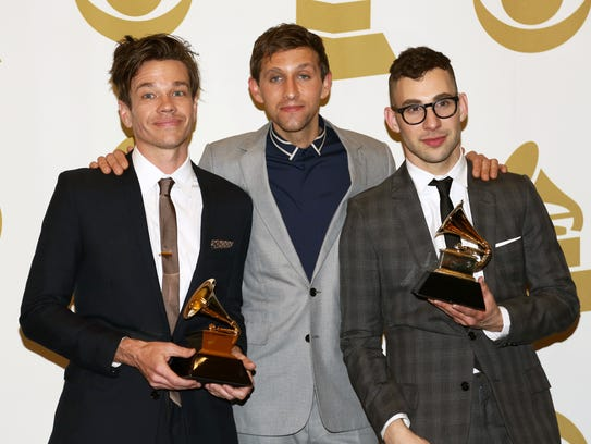 Fun., from left, Nate Ruess, Andrew Dost and Jack Antonoff.
