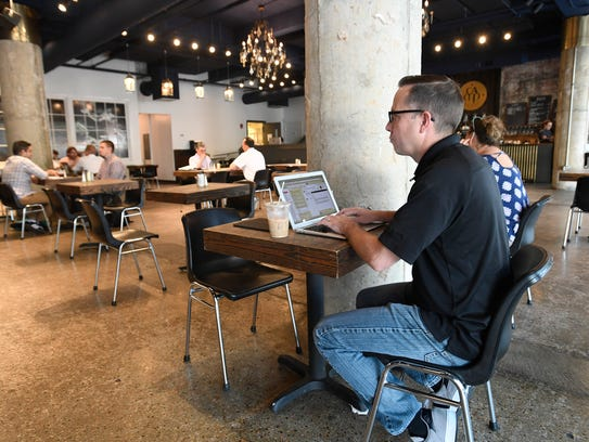 What montgomery can learn from chattanoogas startup success people work in the camp house coffee shop in chattanooga malvernweather Choice Image