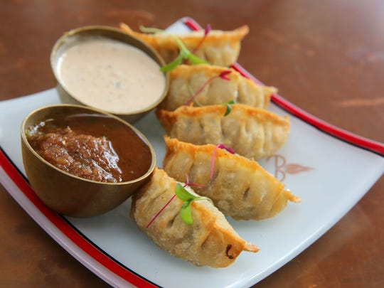 Momo are among the menu items at the Cheel, a Nepali restaurant in Thiensville. The dumplings can be fried, like these, or baked or steamed. Fillings can include lamb, duck or vegetable.