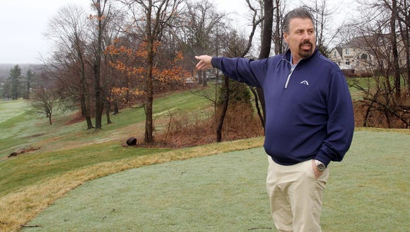 Knollwood Country Club president Nick Greto points