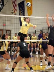 Western's Heather Verrill gets ready to slam this ball