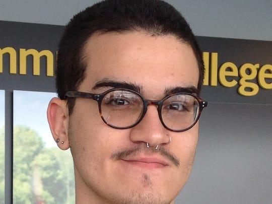 Mikhael Vazquez Galarza, of Puerto Rico, at Monroe Community College.