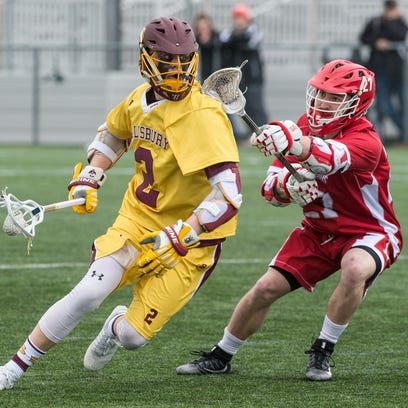 Salisbury University's Griffin Moroney (2) maneuvers