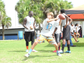 A camper performs quarterback drills at Mike Cadore's 'I Got Skillz' football camp in Rockledge, partnered with USA Football and the NFL.