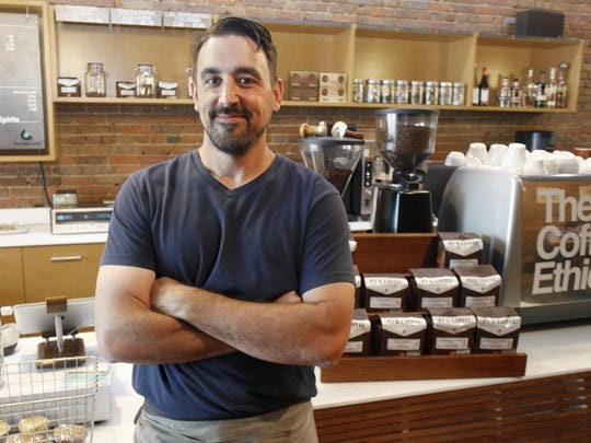 Tom Billionis, owner of The Coffee Ethic, is shown in 2014. Billionis, who founded the downtown coffee shop in 2007, died unexpectedly April 16, 2016 at age 44. Downtown Springfield Association is now raising funds online to install a memorial plaque on Park Central Square in Billionis' honor.