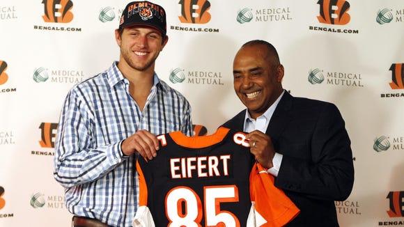 Tyler Eifert was the Bengals first-round pick in 2013.
