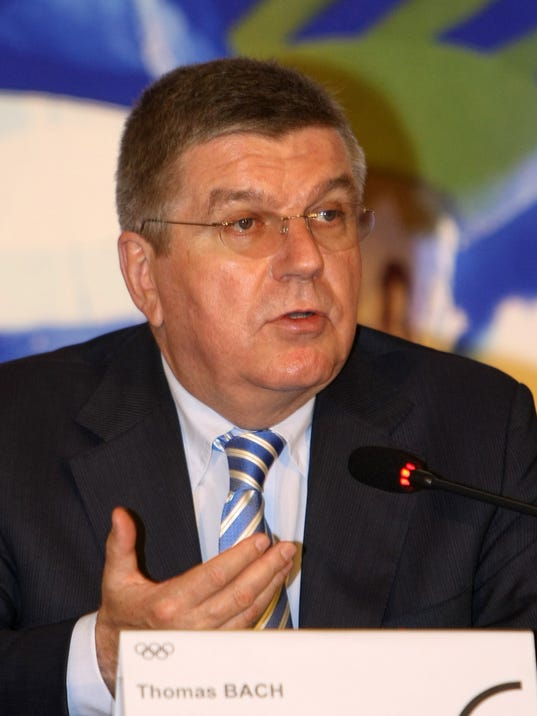 """IOC President Thomas Bach speaks during a press conference in Pyeongchang, South Korea, Wednesday, July 2, 2014. Bach said the world body is confident that Pyeongchang can organize """"excellent"""" Winter Games in 2018. (AP Photo/Yonhap, Jin Jeong-young) KOREA OUT"""