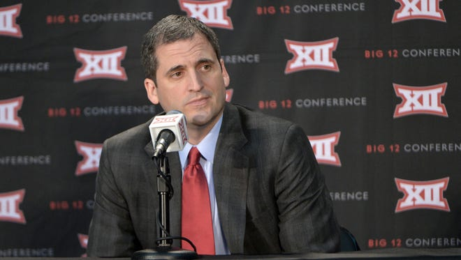 Iowa State head coach Steve Prohm speaks with media during the Big 12 Media Day at Sprint Center.