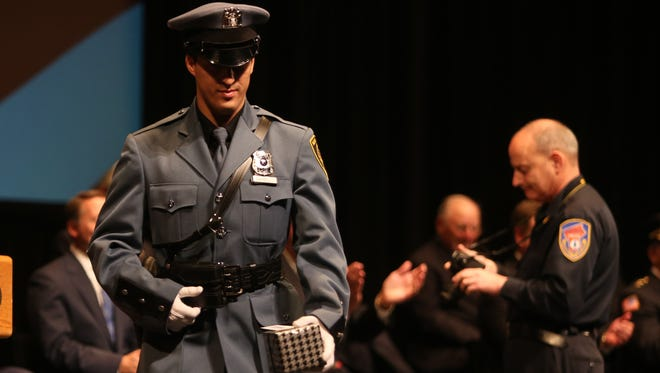 Jeffrey M. Marello with the New Rochelle Police Department won the Highest Academic Average Award as the Westchester County Police Academy graduated its 140th Session Basic Police Recruit Class at Purchase College on Dec. 18. Sophia delivered the graduate address on behalf of the class.