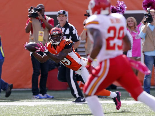 Cincinnati Bengals wide receiver Brandon Tate (19)