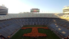 A Power T, made up of University of Tennessee supporters,