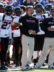 Mike Leach at Texas Tech in 2008.