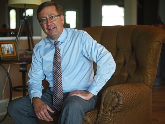 Mike Huether poses for a portrait in 2017.