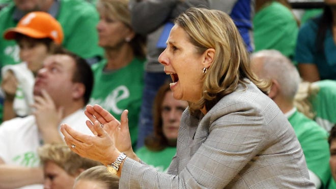 Minnesota Lynx head coach Cheryl Reeve directs her team in the second half Thursday during Game 5 of the WNBA Finals in Minneapolis.