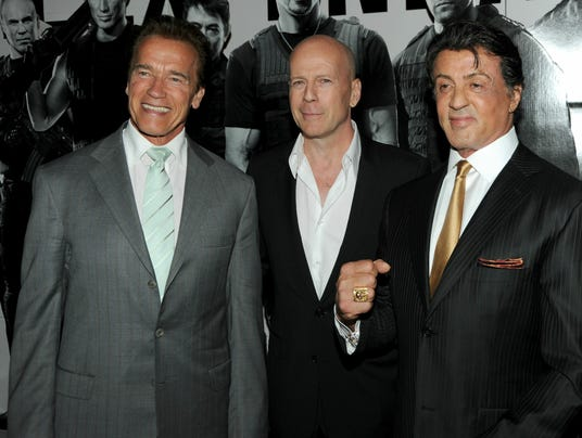 """""""The Expendables"""" men in happier days."""