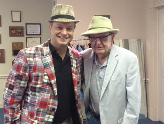 Former North Carolina congressman Howard Coble, right,
