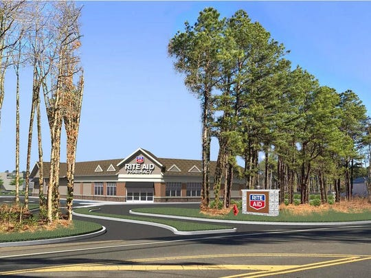 A rendering of what the new stand-alone Rite Aid will look like at the Village at Taunton Forge when it's complete.