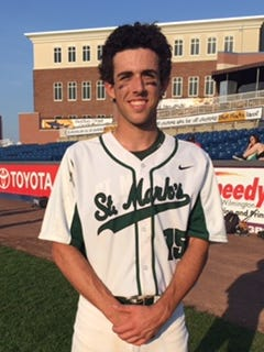 Matt Theodorakis had a two-run double, triple and key defensive play at first base for St. Mark's.