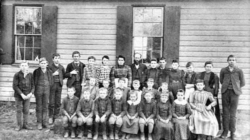 Unknown one-room school (Jim McClure's blog)submitted