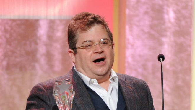 "Patton Oswalt accepts the award for best guest performer in a comedy series for ""Parks and Recreation"" at the Critics' Choice Television Awards in the Beverly Hilton Hotel on Monday, June 10, 2013, in Beverly Hills, Calif."
