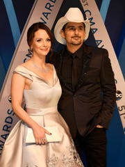 Brad Paisley and Kimberly Williams-Paisley, shown here before the 2017 CMA Awards in Nashville, have partnered with Belmont University to open The Store, a food pantry that operates like a free grocery store.