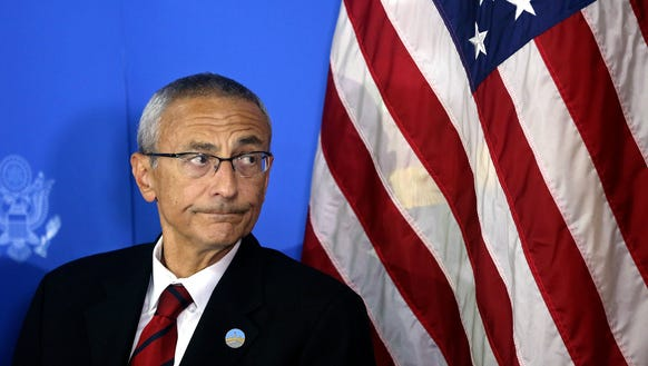 John D. Podesta  is seen in this 2012 photo.