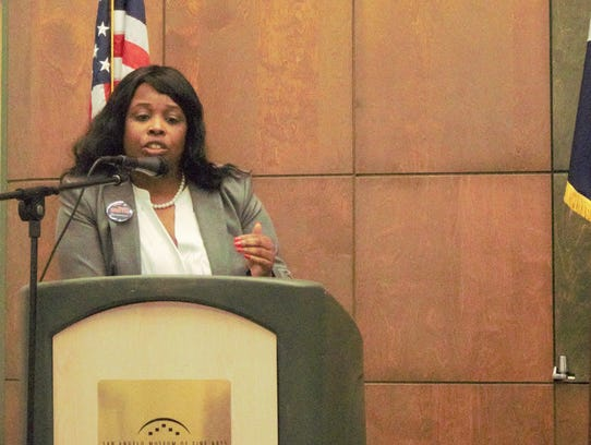 Demetria Smith during the Governor Candidate Forum