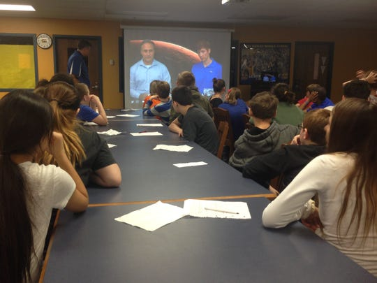 Link Observatory Space Science Institute held a live virtual conference with NASA at Paul Hadley Middle School.