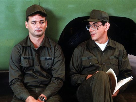 """Bill Murray (left) and Harold Ramis are in for some Army training, sir!, in """"Stripes"""" (1981)."""