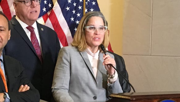 San Juan Mayor Carmen Yuliz Cruz speaks Wednesday on