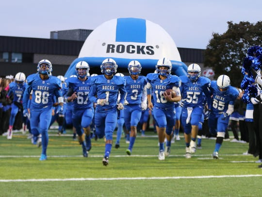Here come the Salem Rocks through the tunnel, entering