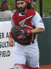 Catcher Ray Ortega is one of Birmingham Bloomfield's