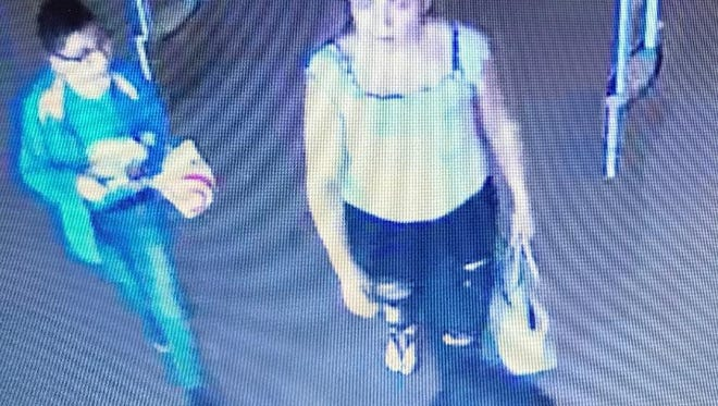 A woman is being sought by the El Paso County Sheriff's Office in connection with a series of car burglaries and credit card abuse.