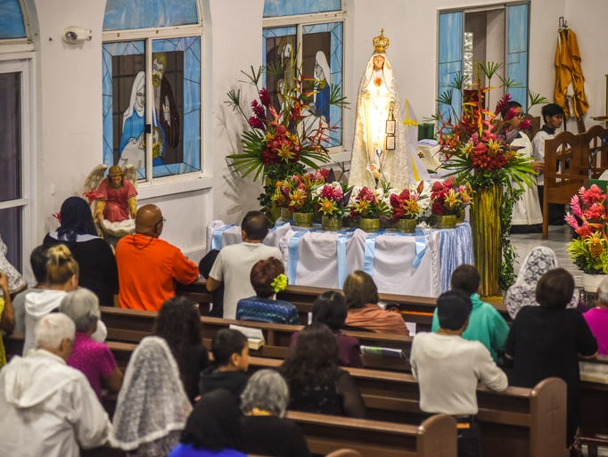 Parishioners and others gather for the Centennial Fatima