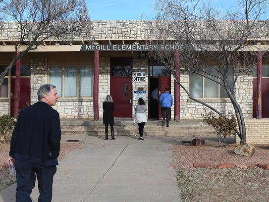 San Angleo ISD school board of trustees visited McGill