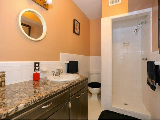 The house offered for $195,000 has two full baths and