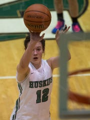 North's Kenna Hisle (12) shoots a free throw as the