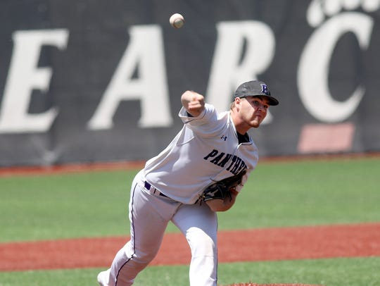 Elder's Starting pitcher Kyle Klingenbeck throws a