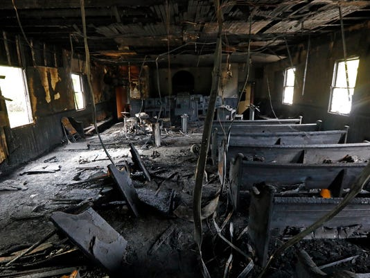 AP BLACK CHURCH BURNED-MISSISSIPPI A USA MS