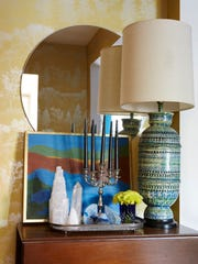 Colorful accent pieces.