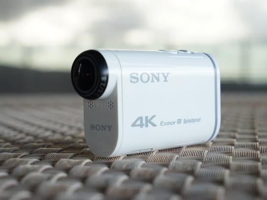 Sony's new X100V 4K action camera, introduced at CES2015