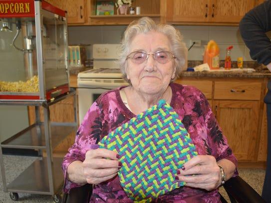 Lorraine Massart, 81, received an art award for her